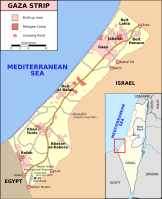 Gaza Map, courtesy Creative Commons
